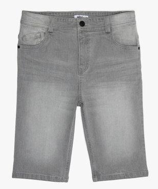 Bermuda garçon en jean 5 poches vue1 - GEMO (JUNIOR) - GEMO