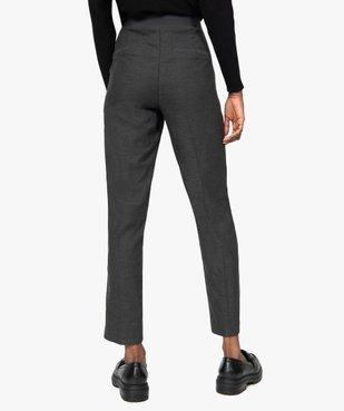 Pantalon femme aspect lainage avec taille élastiquée vue3 - GEMO(FEMME PAP) - GEMO