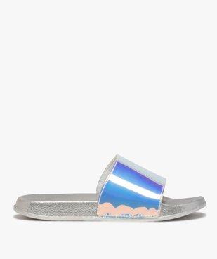 Mules de piscine fille à bandeau irisé vue1 - GEMO (PLAGE) - GEMO
