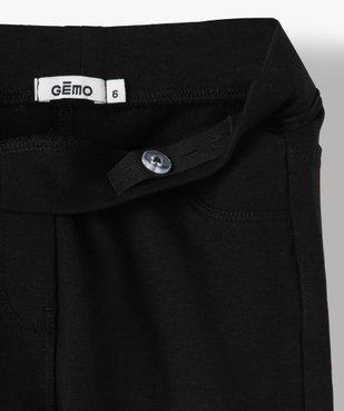 Leggings fille uni en coton extensible vue3 - GEMO (ENFANT) - GEMO