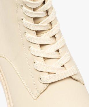 Boots femme unies à lacets semelle extra large et crantée vue6 - GEMO (CASUAL) - GEMO