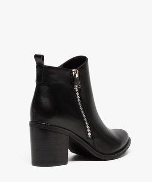 Boots femme à talon avec zip sur le côté vue4 - GEMO(URBAIN) - GEMO