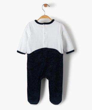 Pyjama bébé en velours avec motif petit loup  vue3 - GEMO(BB COUCHE) - GEMO