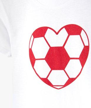 Tee-shirt fille motif fantaisie football vue2 - GEMO (ENFANT) - GEMO