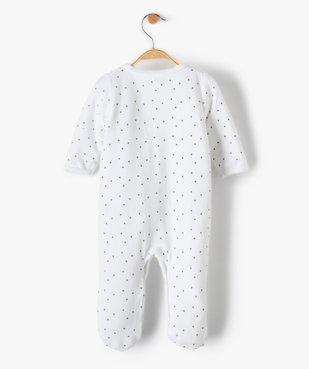 Pyjama bébé en velours fermeture devant motifs étoiles vue4 - GEMO(BB COUCHE) - GEMO