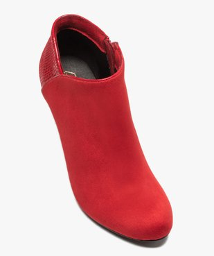 Low-boots femme dessus suédine et bordures passepoil vue5 - Nikesneakers(URBAIN) - Nikesneakers