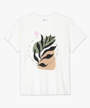 Tee-shirt femme à manches courtes imprimé vue4 - GEMO (G TAILLE) - GEMO