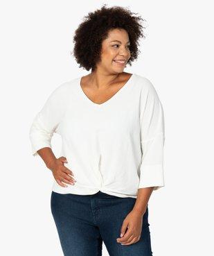 Blouse femme ample à col V et manches 3/4 vue1 - GEMO (G TAILLE) - GEMO