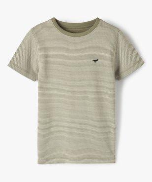 Tee-shirt garçon à fines rayures vue1 - GEMO C4G GARCON - GEMO