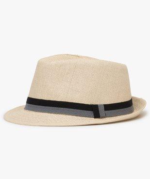 Chapeau homme panama en paille à ruban bicolore vue1 - GEMO (ACCESS) - GEMO