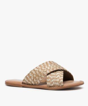 Sandales femme à larges brides croisées vue2 - GEMO (CASUAL) - GEMO