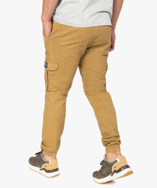 Pantalon homme cargo à taille élastiquée - Roadsign vue3 - ROADSIGN - GEMO
