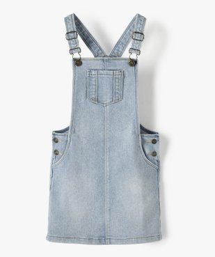 Robe fille en jean coupe salopette vue1 - Nikesneakers (ENFANT) - Nikesneakers