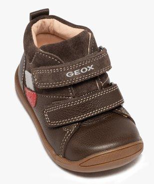 Chaussures premiers pas bébé unies en cuir - Geox vue5 - GEOX - GEMO
