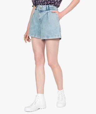 Short femme en jean large vue1 - GEMO(FEMME PAP) - GEMO