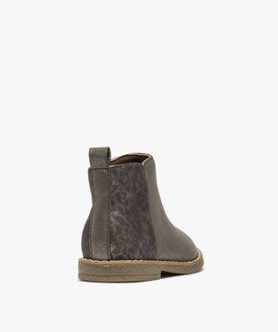 Boots bébé fille métallisées et imprimées léopard vue4 - GEMO(BEBE DEBT) - GEMO