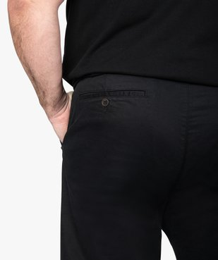 Pantalon homme chino en stretch coupe straignt vue2 - GEMO (G TAILLE) - GEMO
