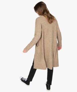 Gilet femme longueur genou à porter ouvert vue3 - GEMO(FEMME PAP) - GEMO