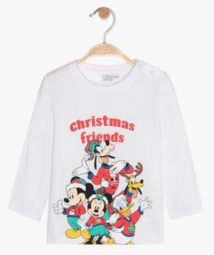 Tee-shirt bébé garçon imprimé de Noël - Disney vue1 - DISNEY DTR - GEMO