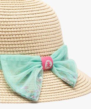 Chapeau bébé fille en paille à ruban en tulle - Lulu Castagnette vue3 - LULUCASTAGNETTE - GEMO