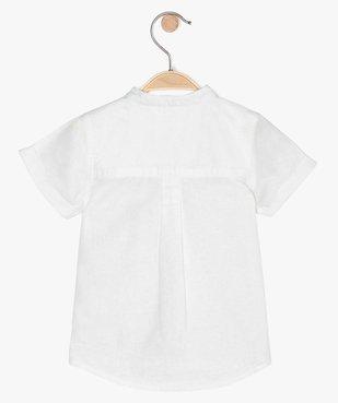 Chemise bébé garçon à col mao en lin et coton vue3 - GEMO(BEBE DEBT) - GEMO