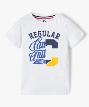 Tee-shirt garçon imprimé à manches courtes – Camps United vue2 - CAMPS UNITED - GEMO