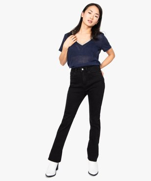 Jean femme extensible coupe Skinny flare vue5 - FOLLOW ME - GEMO