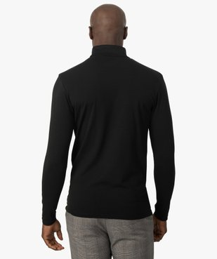 Tee-shirt homme à large col roulé coupe slim vue3 - GEMO (HOMME) - GEMO