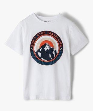 Tee-shirt garçon à manches courtes et grand motif vue1 - GEMO (JUNIOR) - GEMO