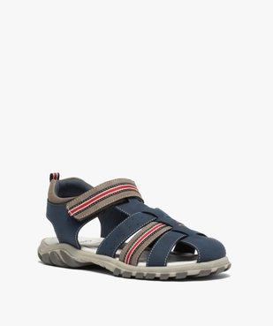 Sandales garçon à brides multiples et fermeture scratch vue2 - Nikesneakers (ENFANT) - Nikesneakers
