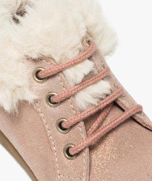 Chaussures premiers pas bébé fille en cuir à col fourré vue6 - Nikesneakers(BEBE DEBT) - Nikesneakers