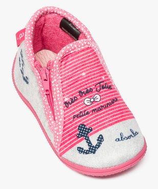 Chaussons bébé semelle intérieure cuir style marin - Absorba vue5 - ABSORBA - GEMO