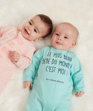 Pyjama bébé garçon à message humoristique - GEMO x Les Vilaines filles vue6 - VILAINES FILLES - GEMO