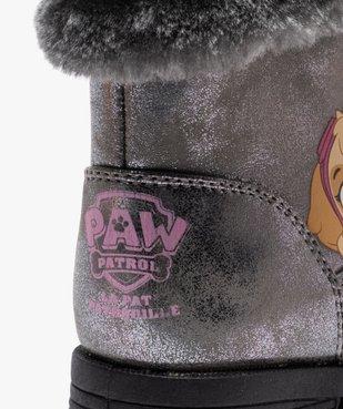 Bottes fille zippées métallisées à col fourré – Pat' Patrouille vue6 - PAT PATROUILLE - GEMO