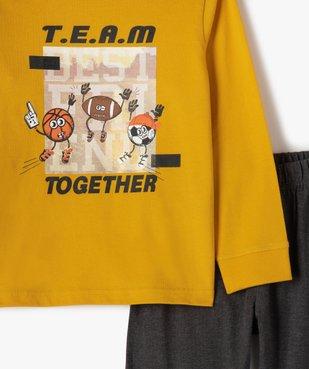 Pyjama garçon bicolore avec motif sur l'avant vue2 - GEMO (ENFANT) - GEMO