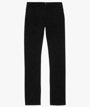 Jean femme en toile unie 4 poches coupe Regular - Longueur L30 vue4 - GEMO (JEAN) - GEMO