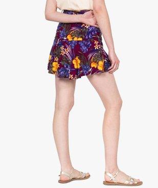 Jupe-short femme fluide motif fleuri vue4 - GEMO(FEMME PAP) - GEMO