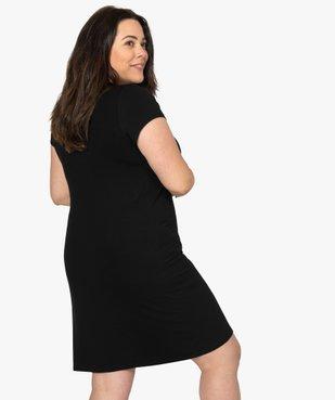 Nuisette femme à manches courtes et col V en dentelle vue3 - GEMO(HOMWR FEM) - GEMO