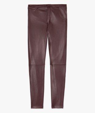 Pantalon femme en matière synthétique coupe slim vue4 - GEMO(FEMME PAP) - GEMO