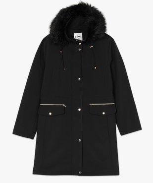 Manteau femme à capuche fantaisie et touches métalliques  vue4 - GEMO (G TAILLE) - GEMO