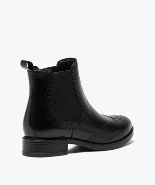 Boots femme style chelsea unis à bout fleuri vue4 - Nikesneakers (CASUAL) - Nikesneakers