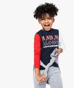 Tee-shirt garçon multicolore à manches longues – Lulu Castagnette vue1 - LULUCASTAGNETTE - GEMO