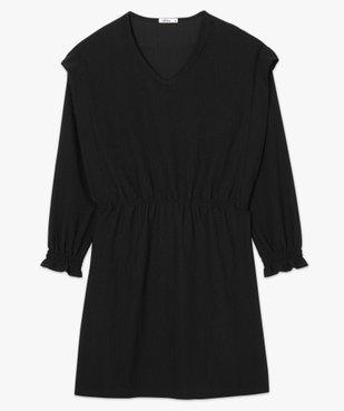Robe femme à manches longues en maille texturée vue4 - GEMO(FEMME PAP) - GEMO