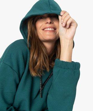 Sweat femme à capuche avec finitions élastiquées vue1 - GEMO(FEMME PAP) - GEMO
