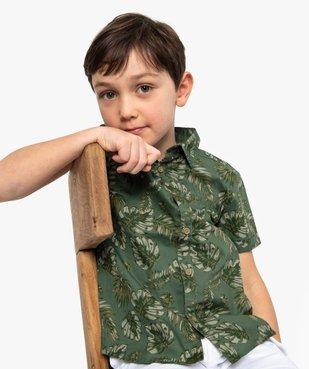 Chemise garçon à motifs tropicaux et manches courtes vue2 - GEMO (ENFANT) - GEMO