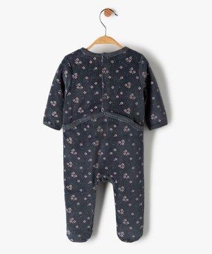 Pyjama bébé fille en velours à motifs fleuris vue3 - GEMO(BB COUCHE) - GEMO