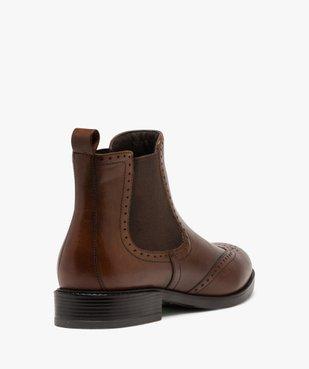 Boots femme style chelsea unis à bout fleuri vue4 - GEMO (CASUAL) - GEMO