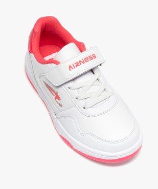 Tennis fille bicolores à lacets élastiques et scratch - Airness vue5 - AIRNESS - GEMO