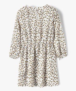 Robe fille imprimée à manches longues et taille élastiquée vue4 - GEMO (ENFANT) - GEMO