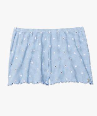 Bas de pyjama femme short fleuri - LuluCastagnette vue4 - LULUCASTAGNETTE - GEMO